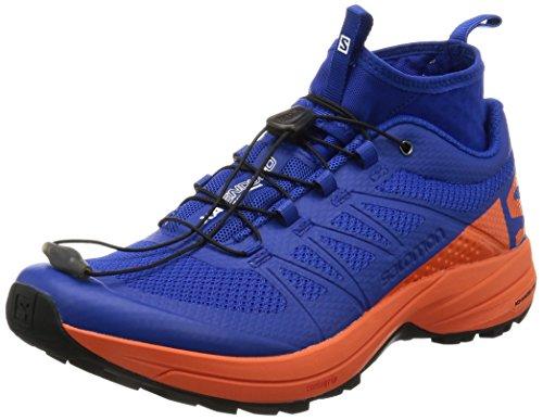 Salomon XA Enduro, Zapatillas de Trail Running para Hombre, Azul (Surf The Web/Flame/Black), 42 EU