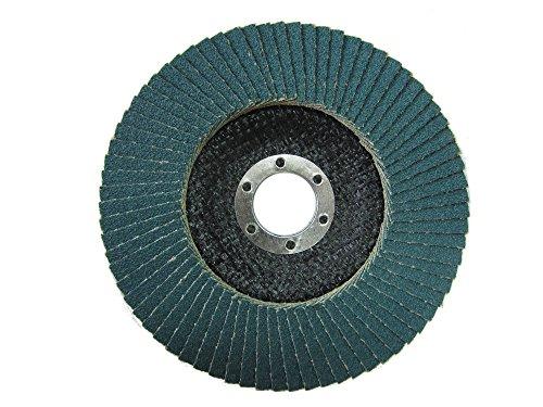 Fächerscheiben, Schleifmop Durchmesser 115 mm / je 10 Stück Korn 40,60,80,120 / blau