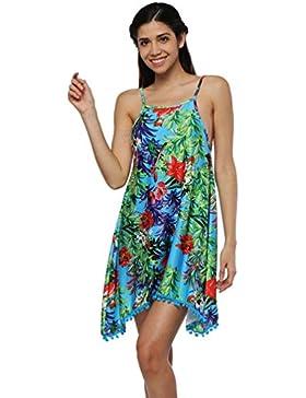 Baijiaye Mujer Vestir Bohemia Honda Floral Impresión Vestidos De Playa Escotado Por Detrás Tropical Estilo Señoras...