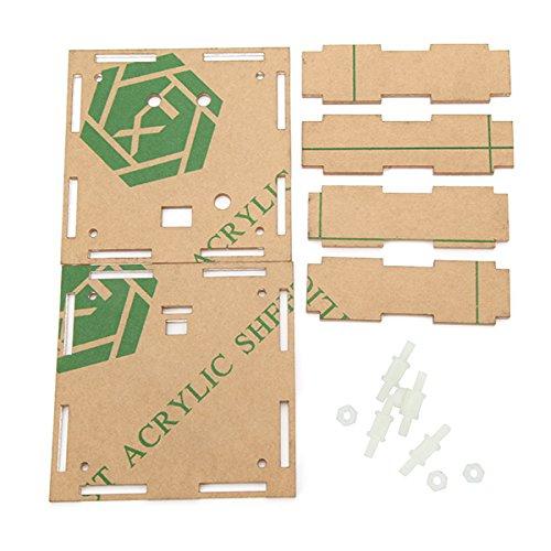 Bluelover Transparente Gehäuse Gehäuse Shell Für Upgrade Diy Ec1515B Ds1302 Led Elektronische Uhr Kit