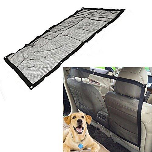 Haosen Haustier Barrier Sicherheit Netz Travel Rücksitz Barriere Hund Barriere Isolation Netzwerk Sicherheitsbarriere - Feines Gitter 115x62 cm