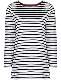 JOULES WOMENS CLOVELLY SHIRT POOL BLUE STRIPED
