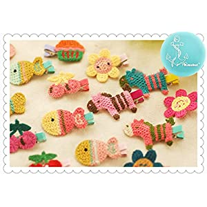 Rimobul 40 Pcs Lovely Cartoon Fruit Hairpin Small Barrette Hair Clip for Toddlers Baby Girls