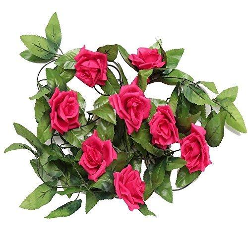 JYWB Flores artificiales para decoración del hogar, para jardín, boda o colgar en la pared, color rosa