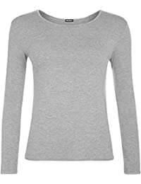 WearAll Ladies Long Sleeve T-Shirt Top Womens Size 8-14