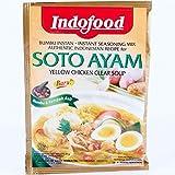 Indofood Soto Ayam, di colore Giallo Chiaro Brodo di Pollo, 45 grammo (pacchetto di 6)