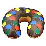 Nackenkissen ''Donut'' Braun | Nackenhörnchen für Kinder | Nackenstützkissen für die Reise | Nackenrolle fürs Flugzeug | Donut Kissen | Geschenk für Freundin | Preis am Stiel® Braun