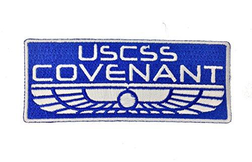 Super6props Alien USCSS Covenant Weyland Yutani Building Bessere Welten Gestickte Patch Iron on Crew Uniform Patches für Cosplay, Kostüm und Fancy Dress Wie im Film Alien Covenant ()