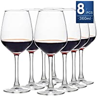 Lot de 8 verres à vin 360ML transparent