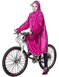 Icegrey Adulte Léger PVC Long Taille Capuche Pour Imperméable Faire du Vélo Pluie Cape de Poncho à Manches