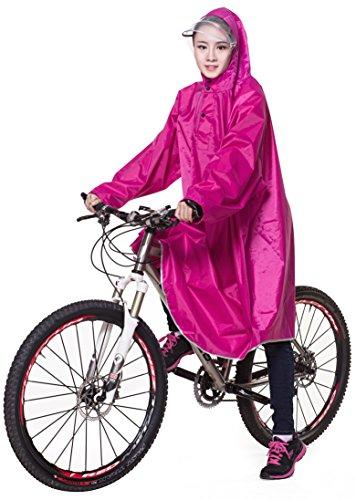 Ommda Bike Fahrrad Regenjacken Regenponcho Wasserdicht Regenmantel für Die Jagd Camping Freizeit Regenmäntel Regencape Rosen Rot 3XL
