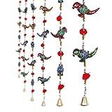 #6: Jaipuri haat Parrot Mirror work Door Hanging Metal Tapestry Artificial Beads - Set of 2
