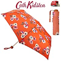 Cath Kidston Anemone Bouquet Folding Umbrella Minilite Handbag Size With Matching Cover F3739