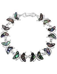 Paua shell Butterfly bracelet, gift boxed with ribbon