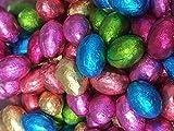 Ostereier aus Milchschokolade - in Folie verpackt - für Ostereiersuche