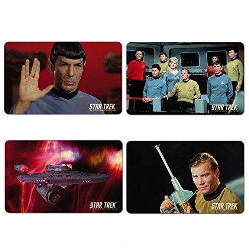 Star Trek - USS Enterprise Crew - Mr. Spock & Captain Kirk Frühstücksbrettchen 4er Set - farbig - Lizenziertes Originaldesign - LOGOSHIRT