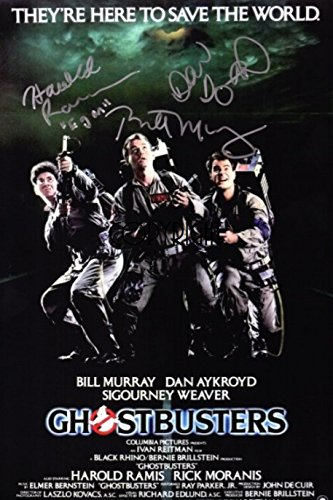 Limited Edition Ghostbusters Poster, signiert Foto Autogramm signiertsigniertes