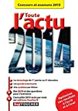 Lire le livre Toute l'actu 2014 Concours gratuit