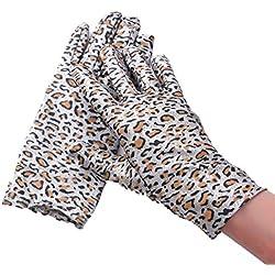 Huasho Guantes de Fiesta con Estampado Guantes de Mujer Guantes Elegantes con Dedos completos,GY