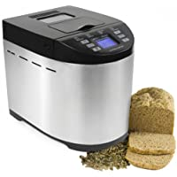 Andrew James Premium Bread Maker With Automatic Ingredients / Nut And Raisin Dispenser - Includes 2 Year Warranty