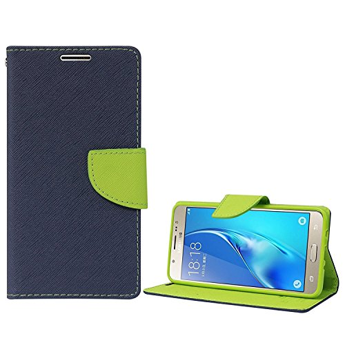 SCHOFIC Wallet Diary Flip Cover for Samsung Galaxy On7 Pro - Navy Blue