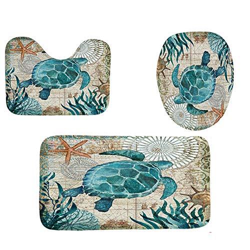 Wodeni Sea Turtles Bathroom Polyester Shower Curtain Waterproof Bath Curtain Bathroom Accessories -
