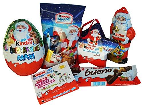 Geschenk Korb Nikolaus mit Ferrero Kinder Schokolade (6-teilig)