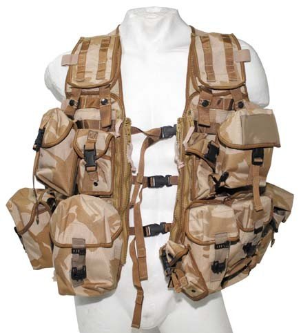 ORIGINAL BRITISCHE WESTE Tactical Molle Modular System Load Carrying DPM desert
