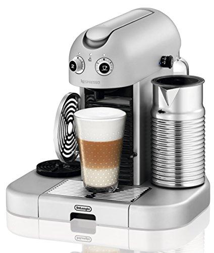 Nespresso Gran Maestria Silver EN470SAE DeLonghi  - Cafetera monodosis (19 bares, Apagado automático, Precalentamiento automático de tazas), Color plateado