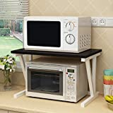DNSJB 2 Niveaux Micro-Onde Support de Four à épices étagère cuisinière Stand de...
