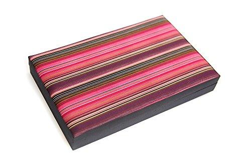 Seek-Unique-Estuche-tamao-extra-grande-para-pendientes-pulseras-diseo-de-rayas-caja-de-30-compartimentos