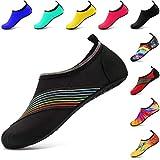 VIFUUR Wassersport Schuhe Barfuß Quick-Dry Aqua Yoga Slip-on für Männer Frauen Kinder XiDaiXiDai SchwarzEU40/41