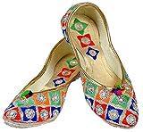 Aadhya;s Multicoloured Punjabi Jutti/Mojari for Women - 4 UK