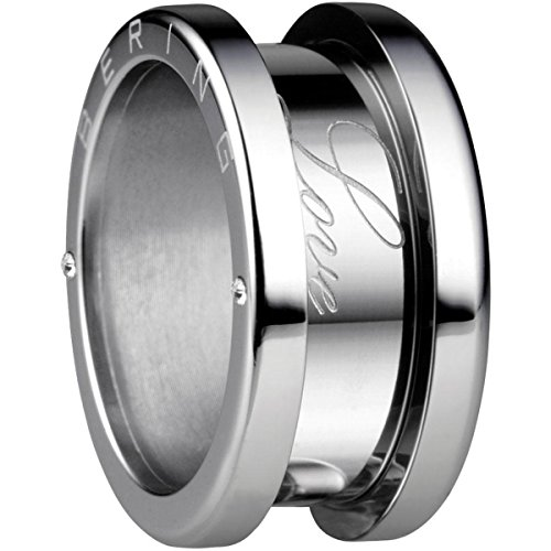 Bering Damen-Ring arctic symphony Außenring Love Edelstahl Zirkonia weiß Gr. 52 (16.6) - 520-10-64 - Herren-marine-ring