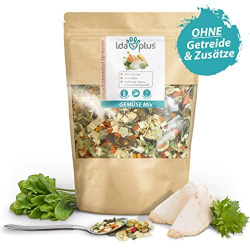 Ida Plus - Gemüse Mix 1000g - Barf Gemüse für Hunde - Getreidefrei & ohne künstliche Zusätze - 100{daf9c2446e2902ce84600eebb616bc970111a578ebc7f4f4c652fbd2a60804be} Naturprodukt - mit Vitaminen und Mineralien für eine ausgewogene Rohfütterung - idealer Barf Zusatz