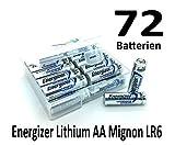 NEMT Flachbox mit 72x Energizer Lithium Mignon AA Batterie LR6
