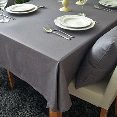 GlobalDeal Direct Farbe Tisch Tuch Baumwolle Leinen Rechteck Tischdecke waschbar Schreibtisch Cover–Purpurähnlich rot 140* 180cm, grau, 100 * 140cm