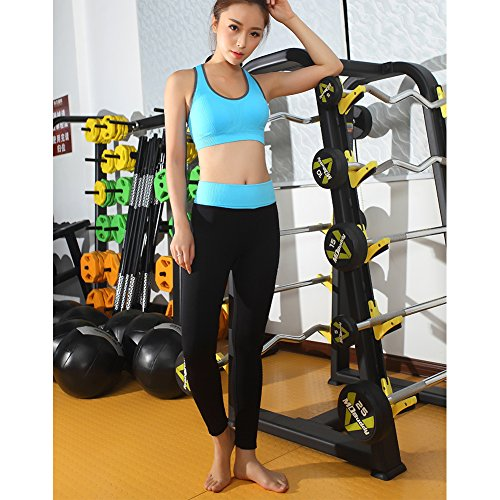 Fitibest Sport BH Gepolsterter Yoga BH Bustier ohne Bügel Damen Jogginghose Damen Sport Leggings Yoga Hose Trainingshose Blau