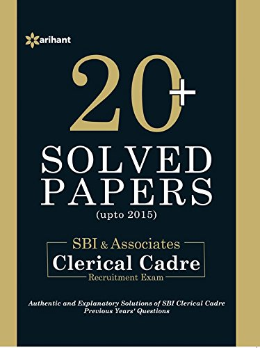 20+ Solved Papers (upto 2015) - SBI Clerical Cadre  Junior Associates & Junior Agricultural Associates  - Phase-1