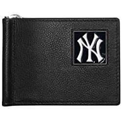 MLB New York Yankees Leather Bill Clip Wallet