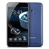 HOMTOM HT50 - 4G Smartphone ohne Vertrag, 5.5 Zoll, Android 7.0, MTK6737 1.3GHz Quad-Core, 3GB RAM 32GB ROM, Fingerprintsensor ID, Dual Kamera, Dual SIM, Dual Standby (Blau)