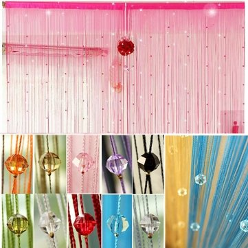Kyz Kuv cristales imitado perlas cortina de ventana de bricolaje decor