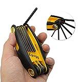 TJW 9in 1pieghevole Archery chiave esagonale arco accessori per fissare riparare, Yellow