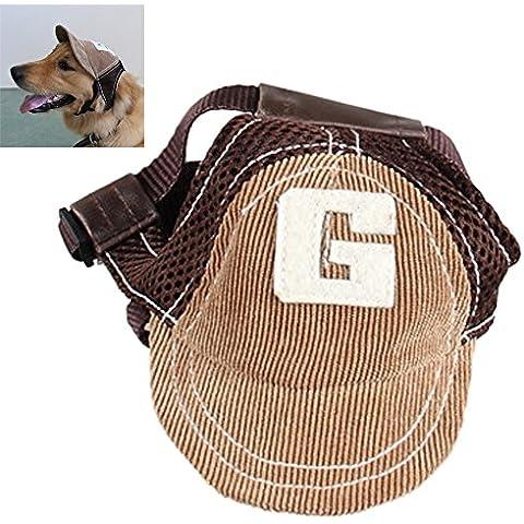 Goodid gorro gracioso de béisel para perro (Marrón, L)