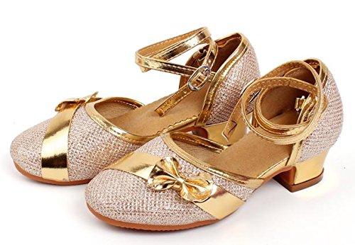 Enfants / adultes Chaussures de danse latine chaussures Danse latine spectacles montrent chaussures golden