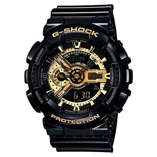 Casio Herren Analog/Digital Quarz mit Resin Armbanduhr GA110GB1AER (Für G-shock Schwarz Uhren Männer)