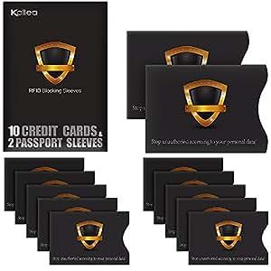 - Kollea 10 Credit Card & 2 Passport Protecteurs, étanche Theft Top ...