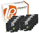 Bubprint 10 Schriftbänder kompatibel für Brother TZe231 TZe-231 für P-Touch 1000 1005 1010 1080 1090 1200 1230 1250 1260 1280 schwarz auf weiß 12mm 8m