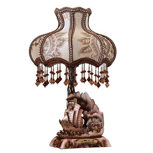 JCXT Retro Tischlampe Harz Warm Schlafzimmer Nachttischlampe Wohnzimmer Acryl Handgemachter Anhänger Schlafzimmer dekorative Tischlampe (Größe : Button Switch) -