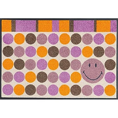 wash + dry - Tappeto Smiley Dots 50x75, Colorato